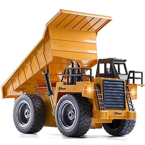 GXT Modelo Versión de la aleación de Control Remoto Carro de la ingeniería camión volquete Coche de Juguete 6 Canales y función de iluminación Modelo de Juguete Rompecabezas
