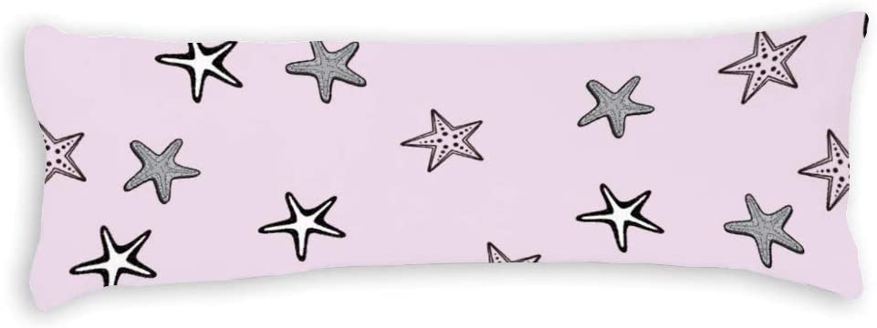 Yilooom Cute Starfish Pattern Sales for sale Excellent Canvas Throw Cases Square B Pillow