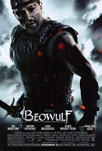 Beowulf Movie Poster (2007) Poster Wall Art Home Decor Gifts for Lovers Painting