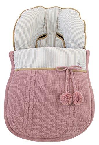 Fußsack oder Schlafsack Babytragetasche mit Schutzhülle für DOONA Gruppe 0. Verfügban mehrere Modellen und Farbene (Sophie Rosa)