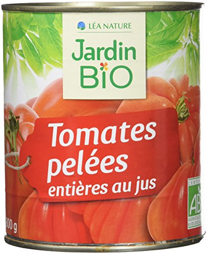 Jardin BiO étic Tomates entières pelées au jus sans sel ajouté - 800 g