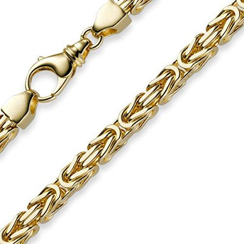6mm Kette Halskette Königskette aus 750 Gold Gelbgold 70cm Herren Goldkette