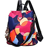 Women's Anti-theft Backpack Purse Small Daypack Schoolbag Girls Shoulder Bags (Fantastic Rainbow)