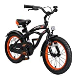 BIKESTAR Bicicleta Infantil para niños y niñas a Partir de 4 años | Bici 16 Pulgadas con Frenos | 16' Edición Cruiser Negro