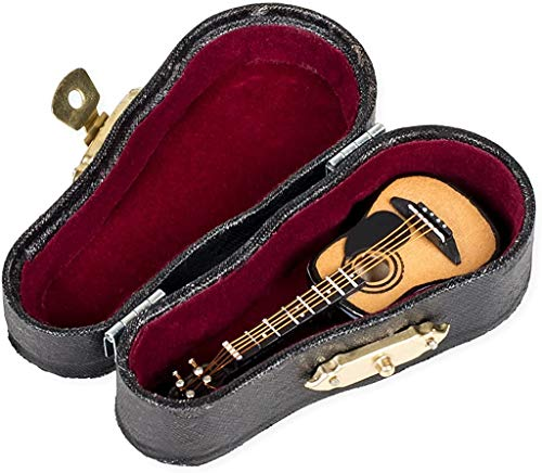 Guitarra acústica miniatura con funda de 3 pulgadas