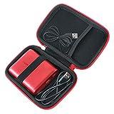Khanka Dur Cas étui de Voyage Housse Porter pour Anker PowerCore 13000mAh Batterie Externe 2 Ports USB Power Bank (Long-Red)