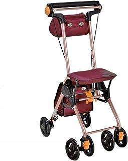 Mobility Aids & Supplies Walker Comfort Lightweight Walking Cart Elderly Folding Shopping Cart Rehabilitation Exercise Mul...