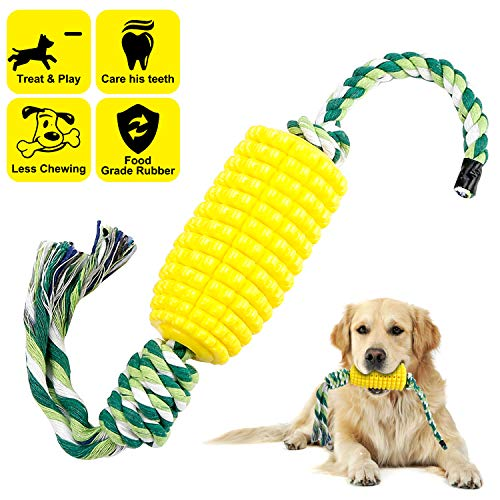 Dog Toothbrush Teeth Cleaning Chew Toys for Aggressive Chewer - Indestructible Interactive Treat Toys for Large Medium Small Dogs - Brushing Stick Dental Oral Care for Pet - Fun to Chew and Fetch