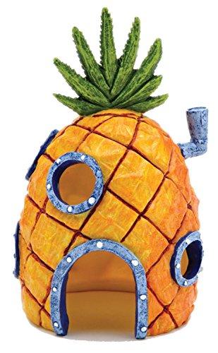 Govine アクアリウム オーナメント オブジェ パイナップル ハウス SpongeBob 隠れ家 置物 スポンジボブ 樹脂製