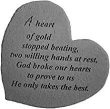 A Heart Of Gold Stopped Beating Heart Shaped Memorial Stone
