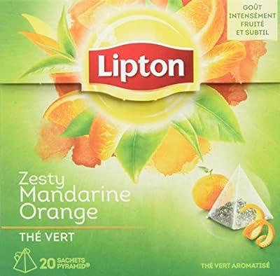 Lipton Thé Vert Mandarine Orange 20 Sachets 36g parent