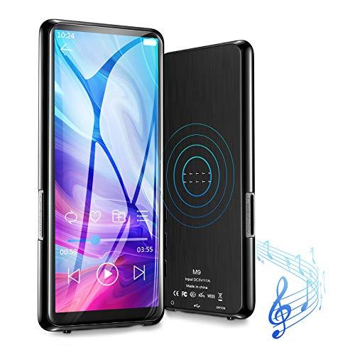 Gueray Lecteur MP3 Bluetooth 8GB avec 3,5 Pouces Ecran LCD Lecteur de Musique Audio numérique Baladeur avec Radio FM enregistreur Vocal Livre électronique Stockage Extensible jusqu'à 128 Go