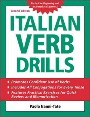 Italian Verb Drills (BGR12) 2nd (second) Edition by Nanni-Tate, Paola published by McGraw-Hill Contemporary (2003)