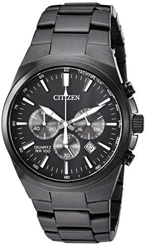 Citizen Men's ' Quartz Stainless Steel Casual Watch, Color:Black (Model: AN8175-55E)