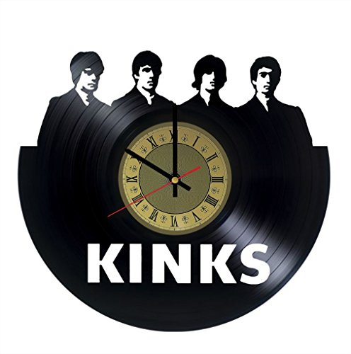 The Kinks Band Vinyl Clock | Ray and Dave Davies | Best Gift for Rock Fans | Original Wall Home Decor