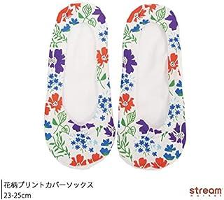 [ストリームマーケット] プリントソックス 花柄カバーソックス 靴下 レディース 23-25cm