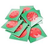 MagiDeal Set de 10 Piezas Tablero Cuadrado Material Matemático de Montessori...