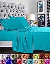 Elegant Comfort - Juego de sábanas de 1500 Hilos, Calidad egipcia de Lujo, Super Suave, Antiarrugas y Resistente a la decoloración, 3 Piezas, Turqouise, Twin/Twin XL