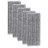 FBGood Super Absorbant Recharges de Tête de Vadrouille - Tampon de Nettoyage de Tête de Balai de Ménage Lavable en Microfibre de Vadrouille de Nettoyage Lavable en Microfibre (5pcs)