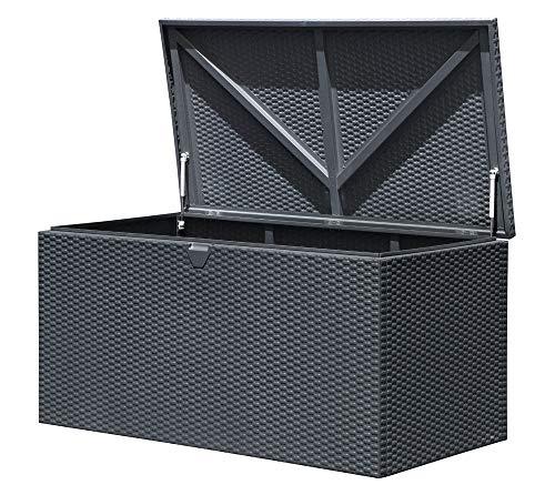 ShelterLogic XXL Kissenbox Gartenbox Gartentruhe Anthrazit 509l Volumen // 132x70x67 cm (LxBxH) // Auflagenbox & Multifunktionsbox