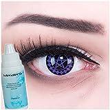 Meralens Black Buttler Kontaktlinsen mit Pflegemittel mit Behälter ohne Stärke, 1er Pack (1 x 2...