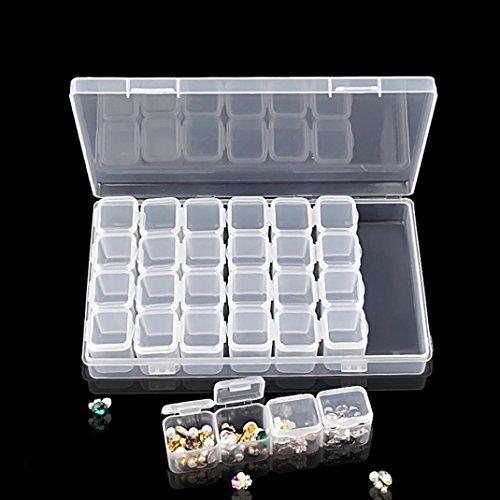 Bescita 1 28 Lattice Plastique Décorations Nail Outil vide étui de rangement Box