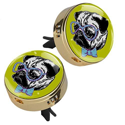 Z&Q Difusor de aromaterapia para Coche Gafas para Perros diseño de Elegante con Clip Incluye 4 Estera de suplemento de PE de Repuesto 33.8mmX46.4mm