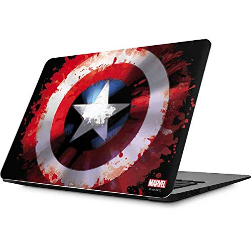 Skinit Decal Laptop Skin Compatible with MacBook Air 13.3 (2010-2017) - Officially Licensed Marvel/Disney Captain America Shield Design