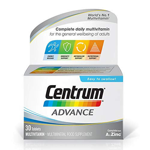 Centrum Advance Multivitamins and Minerals tablet, 30 tablets (1 month supply), 24 key nutrients Vitamins and Minerals for men and women, Vitamin D, Complete from A to Zinc