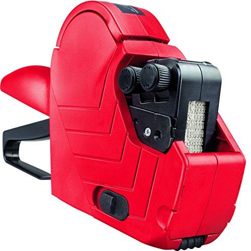 Original Meto Etiquetadora Manual Arrow M 9505486 (de 2 líneas y 16 dígitos para Etiquetas de 22 x 16 mm, Listas para Usar) 1 Máquina Etiquetadora, Rojo-Negro, 14,3 x 22,6 x 5,3 cm