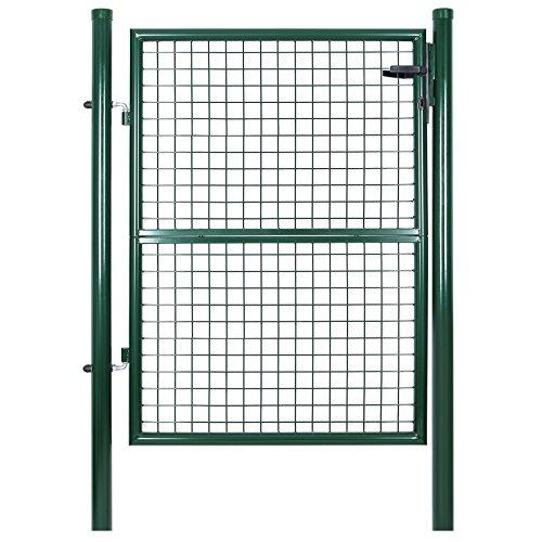 SONGMICS Cancelletto Giardino 125 x 106 cm Cancello Pedonale Barriera Modulabile GGD175G