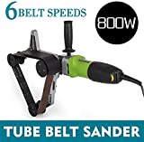 S SMAUTOP Lijadoras de banda de tubo, acero inoxidable 800W Tubo Tubo Pulidora Lijadora Lijadora 220V Rectificadora Pulidora Dibujo de alambre