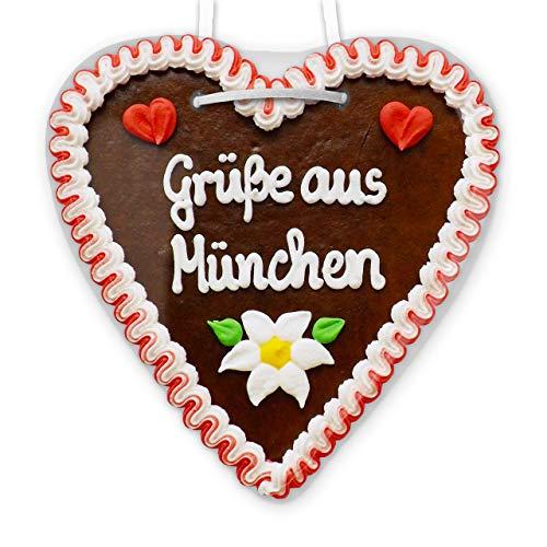 Lebkuchenherz - 21cm - Grüße aus München