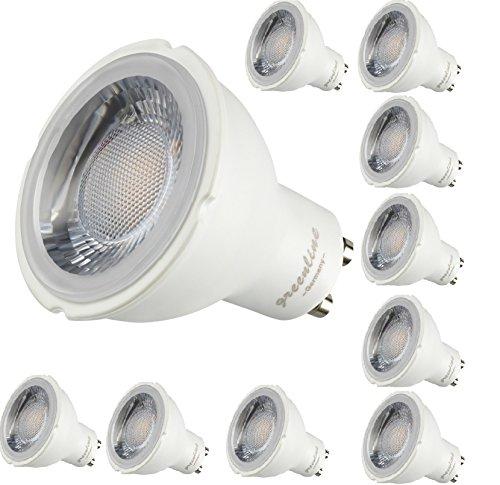 10er Packung - 8W - LED GU10-650 Lumen- 230V Lampe 8 Watt KALTWEISS kaltweiß Leuchtmittel