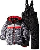 iXtreme Boys' Baby Active Colorblock Snowsuit, Camo Black, 12M