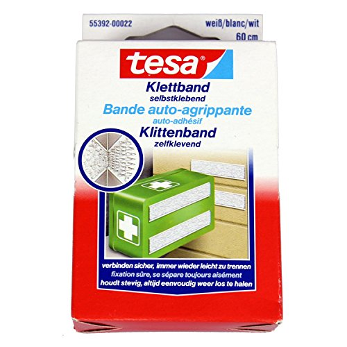 Tesa 55392-22 - Klettband Tesa weiss 0,6 m x 20 mm