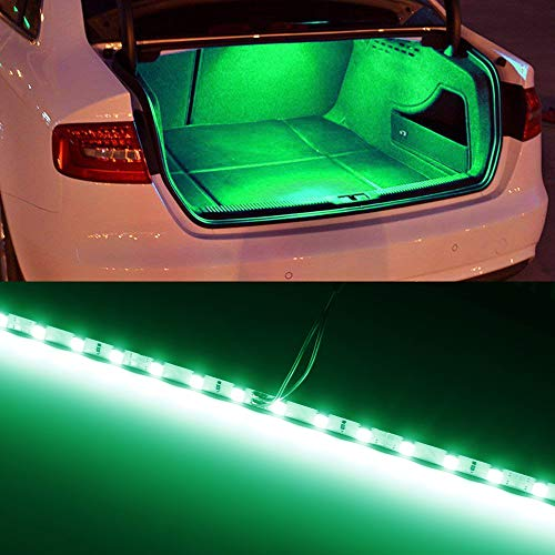iJDMTOY (1) 18-SMD-5050 LED Strip Light Compatible With Car Trunk Cargo Area or Interior Illumination, Emerald Green