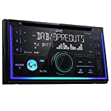 JVC KW-DB93BT - Receptor de CD Doble DIN con Radio Digital (Dab+), función Manos Libres Bluetooth y transmisión de Audio, Color Negro