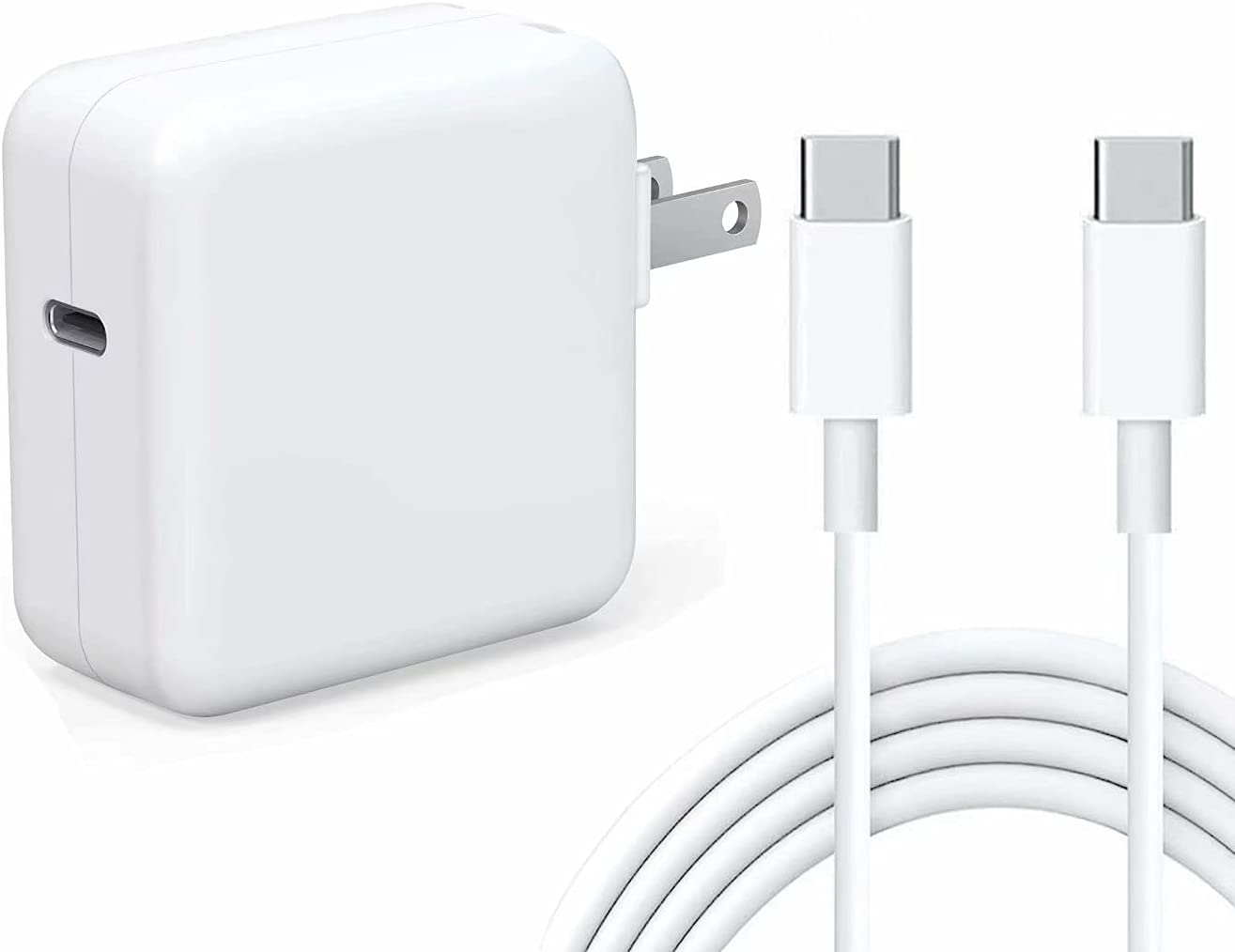 Kiolafy 30W USB C Power Adapter, Compatible with MacBook Air 2018Late 13