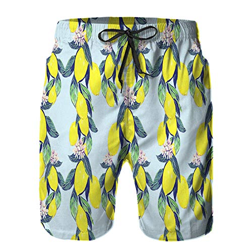 Hombres Verano Secado rápido Pantalones Cortos Playa Hermoso Fondo de patrón Floral Transparente Vintage Trajes de baño Correr Surf Deportes-4XL