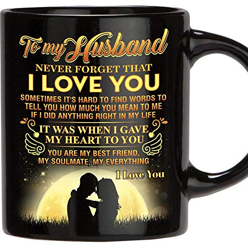 Fathers Day Gift for Man, 11 Oz Funny Mug Gifts for Husband from Wife, Perfect Husband Gift from Wife Romantic Love Wedding, Anniversary Gift, Best Couples, Christmas Gift Idea, Birthday, Father's D