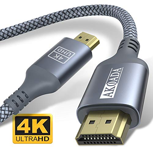 HDMI Kabel 1Meter, AkoaDa 4K@60Hz High Speed 18Gbps HDMI 2.0 Kable, Video 4K 2016P HD, 1080P 3D, Blue-ray, Support Apple TV, Xbox, PS3, PS4, HDTV.
