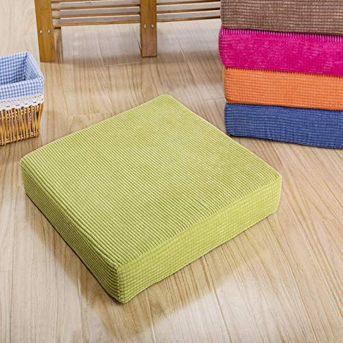 WATCBQ Cushion Soft And Comfortable Chair Cushion Solid Color Seat Cushion Square Floor Tatami Cushion Home Office Universal Comfort-Grass Green_50X50Cm,2Pcs