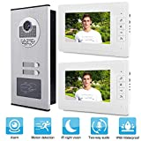 garsent Sistema de intercomunicación con Cable y videoportero Inteligente, 7'HD LCD-Waterproof-Two-Way Conversation -...