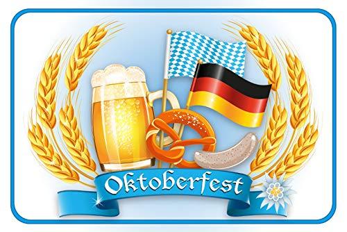 FS Bier Bayern Oktoberfest Duits blikken bord bord gewelfd Metal Sign 20 x 30 cm