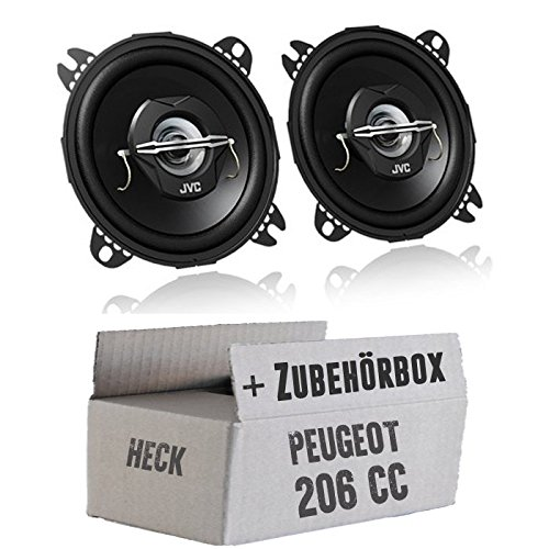 JVC CS-J420-10cm Koaxe - Einbauset für Peugeot 206 CC Heck - JUST SOUND best choice for caraudio