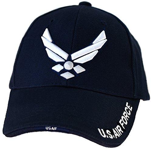 Casquette Americaine Visiere Top Gun Aile Avion us air Force Pilote USA Sergent aviateur Américain brodée Militaire