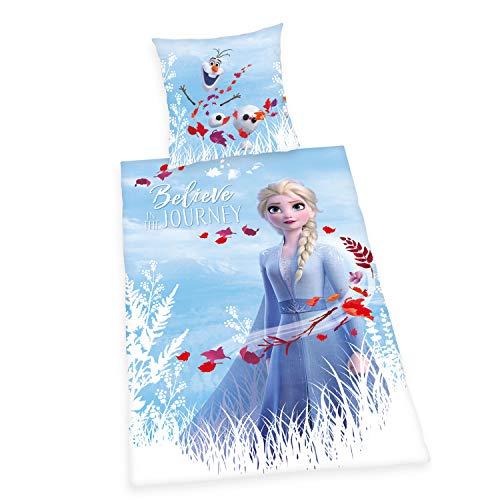 Herding Disney's Frozen 2 Set copripiumini e federe, Cotton, Blu, 140 x 200 cm