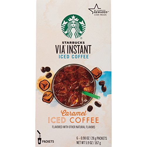Starbucks VIA Instant Coffee, Caramel Iced Coffee, 36 Count
