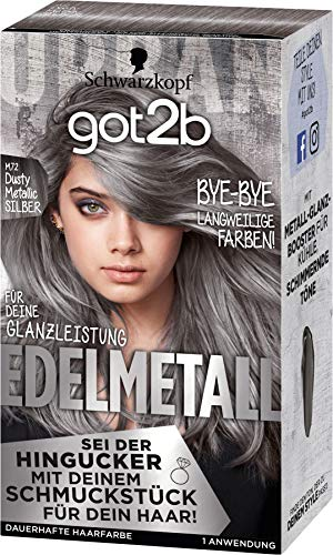 Schwarzkopf got2b Haarfarbe Edelmetall M72 dusty metallic silber, 1er Pack (1 x 142ml)